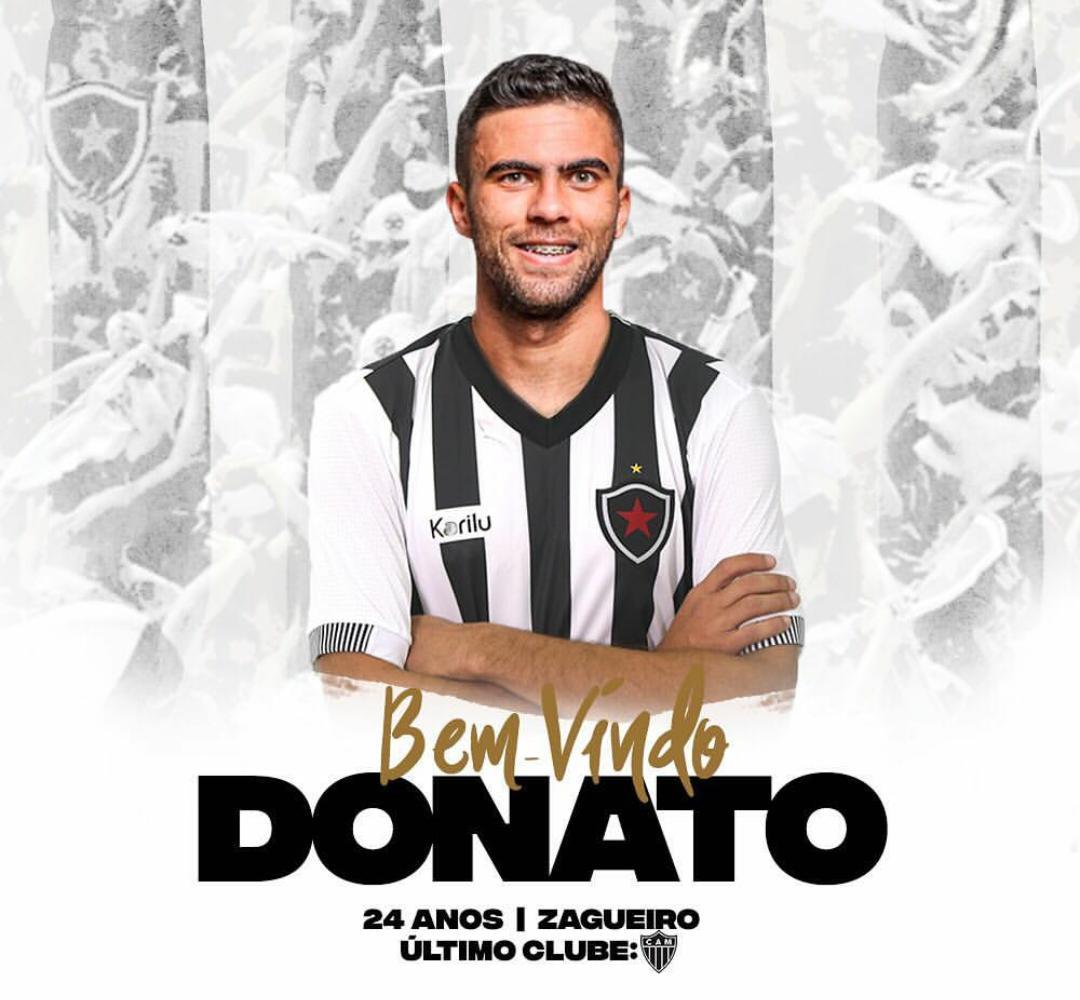 Botafogo-PB anuncia contratação do zagueiro Donato