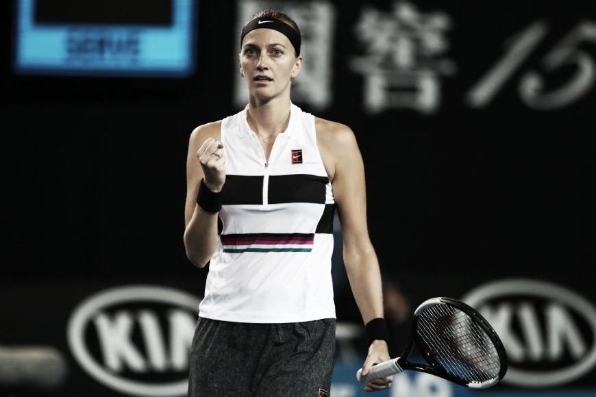 Kvitova passa fácil por Rybarikova e supera estreia no Aberto da Austrália