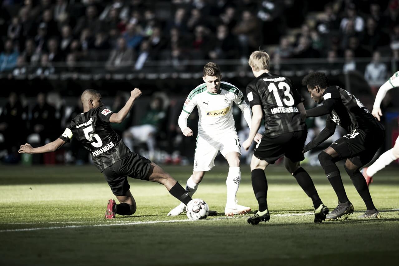 Eintracht Frankfurt e Borussia Mönchengladbach empatam pelo placar mínimo na Bundesliga