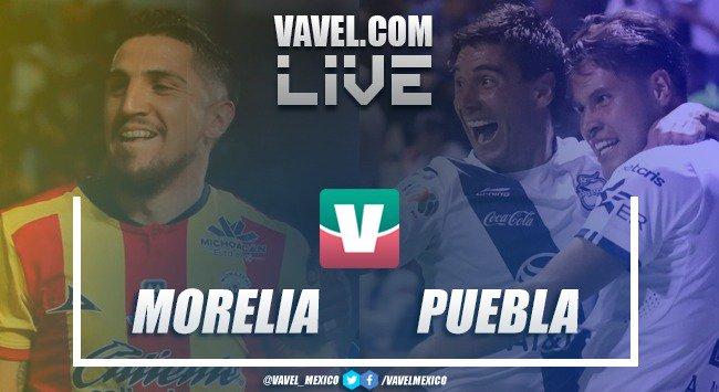 Resumen y goles del Puebla 1-1 Monarcas Morelia en Liga MX 2019
