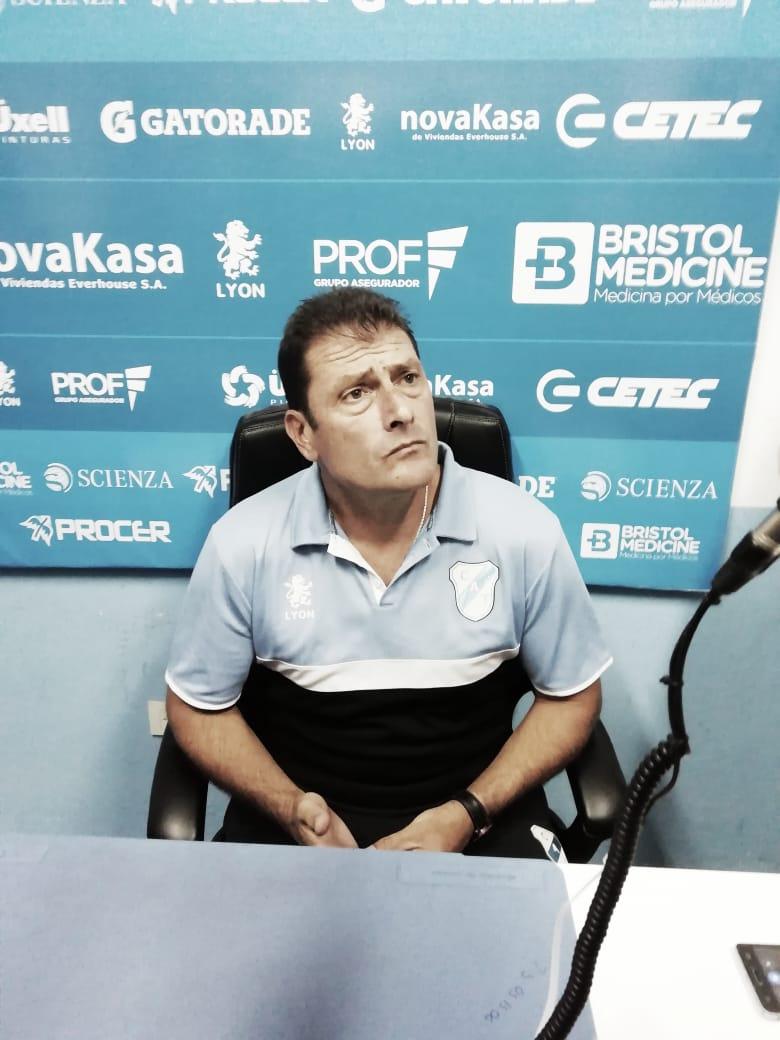 """Cristian Aldirico: """"Quiero destacar a Pablo Magnín, hizo un trabajo extraordinario, muy buen partido"""""""