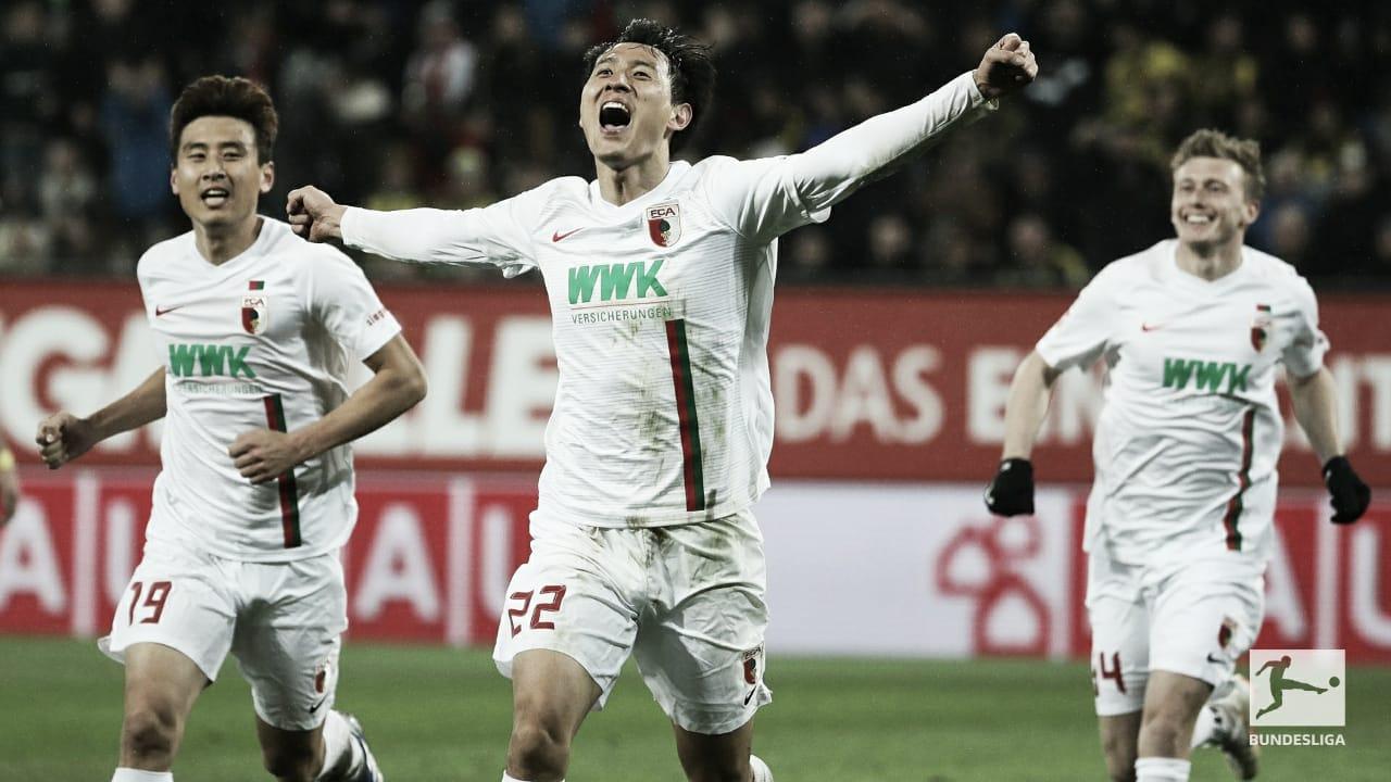 Ji marca dois e ajuda na vitória surpreendente do Augsburg sobre Dortmund
