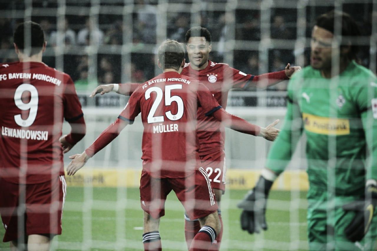 Bayern massacra M'gladbach, cola no líder e só fica atrás pelo saldo de gols