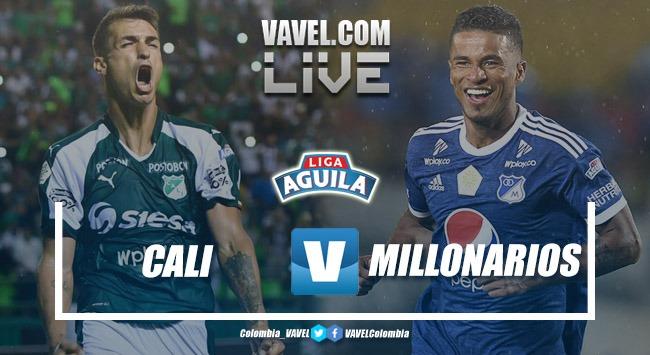 Deportivo Cali vs Millonarios EN VIVO online por la Liga Águila 2019 (1-1)