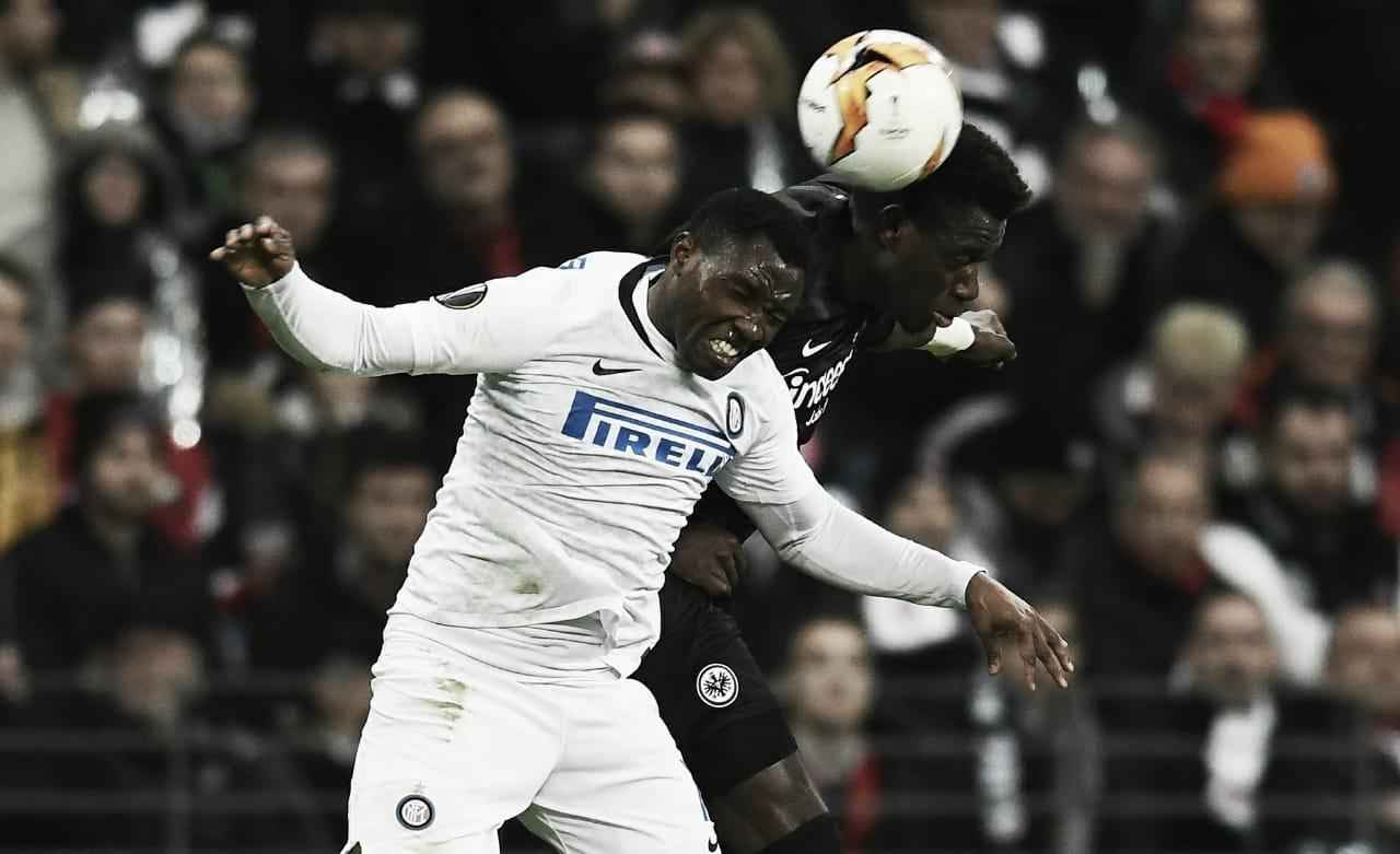 Em jogo corrido, Eintracht Frankfurt e Inter de Milão ficam no empate pela Europa League