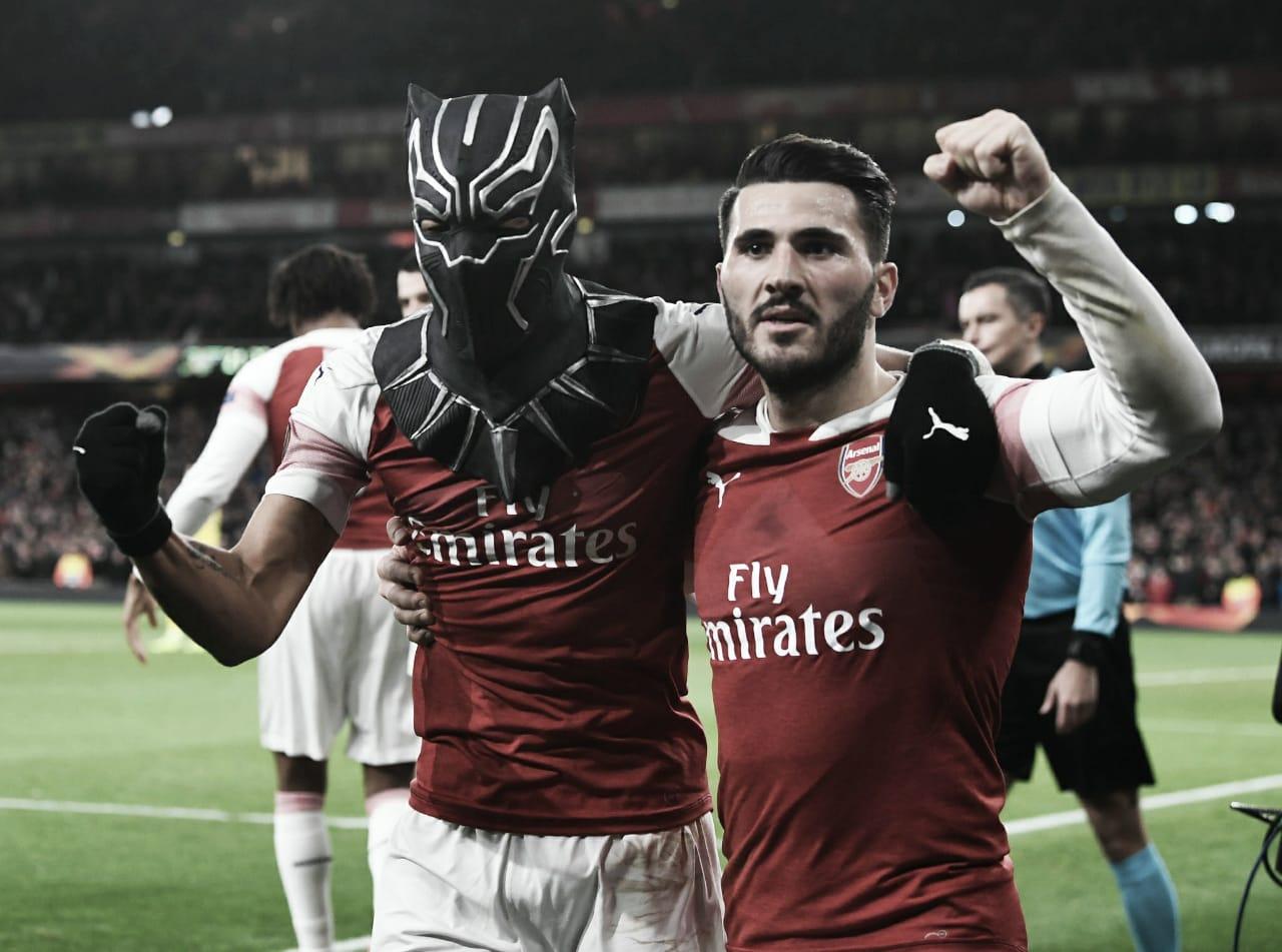 Aubameyang marca dois, Arsenal reverte vantagem do Rennes e se classifica na Europa League