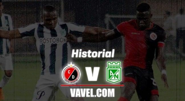 Historial entre Cúcuta Deportivo y Atlético Nacional en el fútbol colombiano