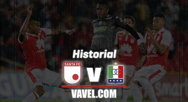 Historial entre Independiente Santa Fe y Once Caldas por Liga