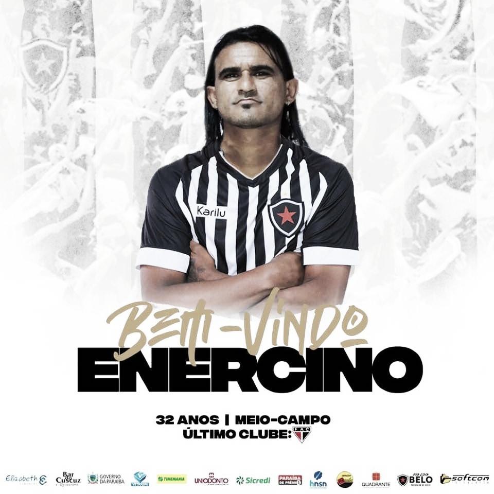 Botafogo-PB anuncia contratação do meia Enercino