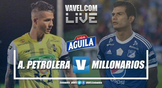 Resumen Alianza Petrolera vs Millonarios por la Liga Aguila (0-2)