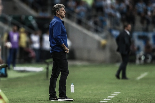 """Renato Gaúcho comemora primeira vitória na Libertadores: """"Este é o Grêmio que nós queremos"""""""