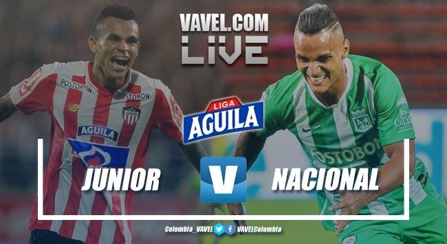 Resumen Junior de Barranquilla vs Atlético Nacional por la Liga Aguila 2019-I (0-0)