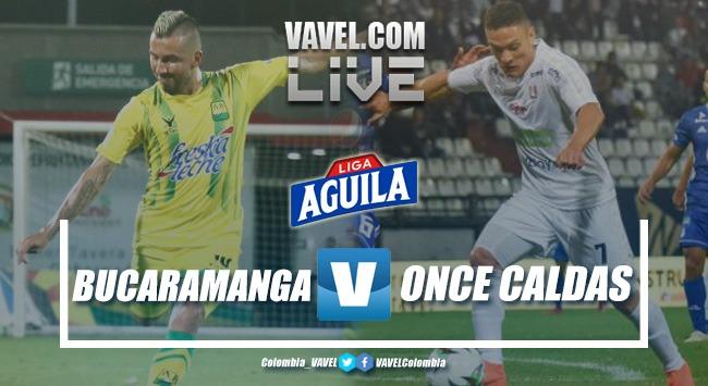 Resumen Atlético Bucaramanga vs Once Caldas por la Liga Aguila 2019-I (1-1)