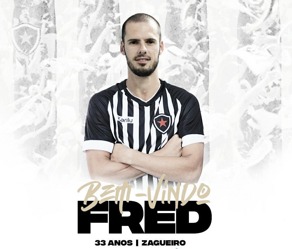 Botafogo-PB anuncia a contratação do zagueiro Fred para a Série C