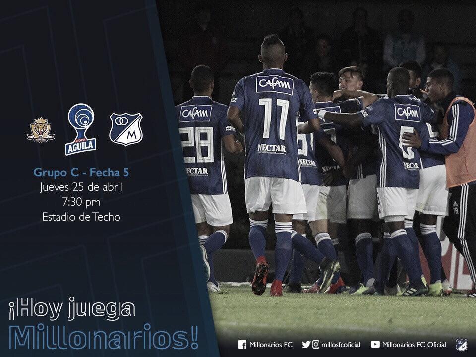 Listos los convocados en Millonarios para enfrentar a Tigres FC