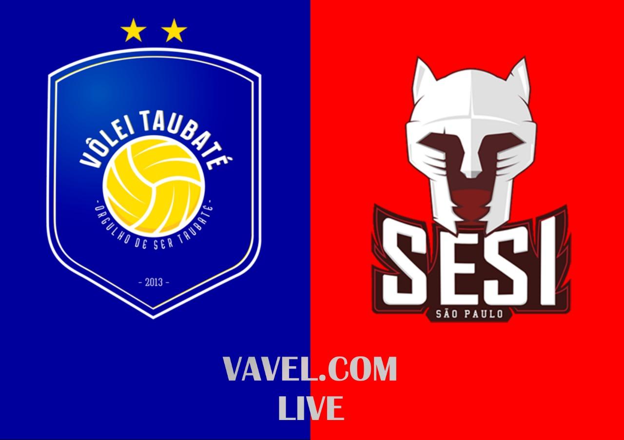 Resultado Taubaté x Sesi-SP pela final da Superliga Masculina (1-3)