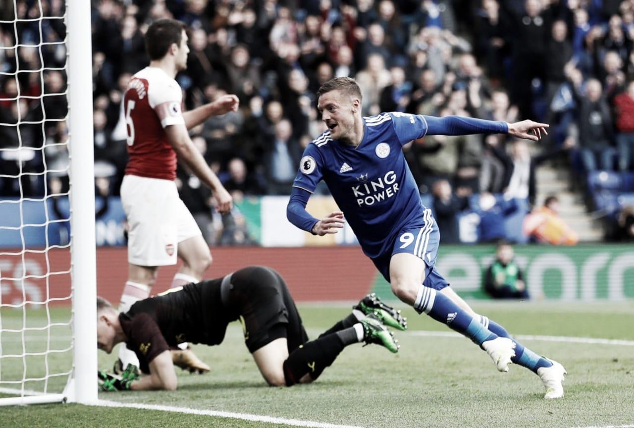 Arsenal joga mal, é atropelado pelo Leicester e se complica na Premier League
