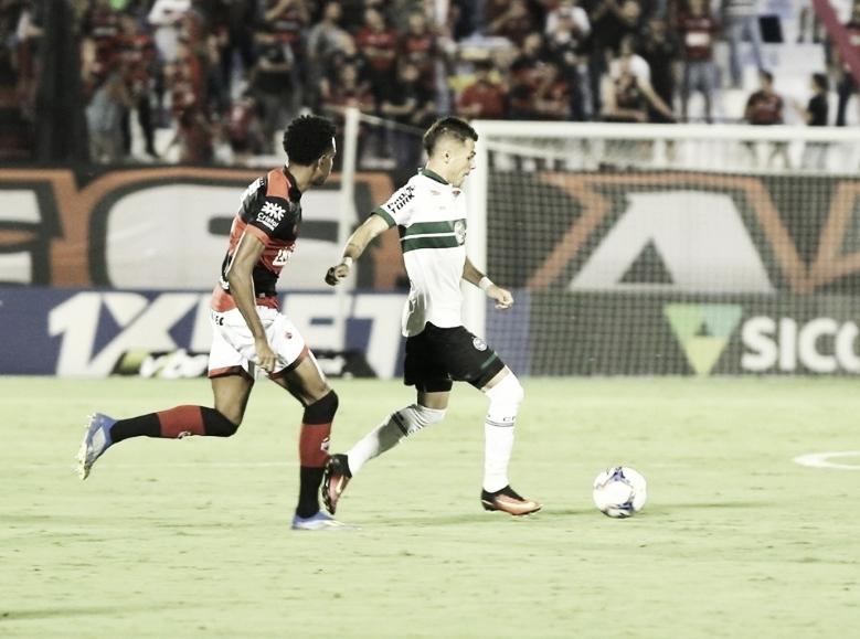 Em jogo com várias chances, Atlético-GO e Coritiba ficam no empate pela Série B