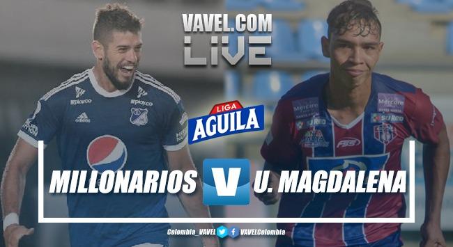 Resumen Millonarios vs Unión Magdalena, cuadrangulares Liga Aguila 2019-I (1-0)