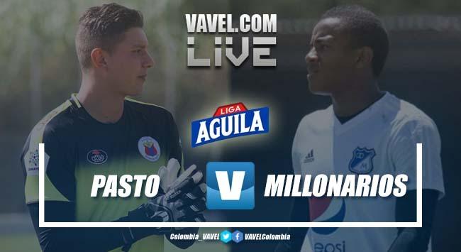 Deportivo Pasto Vs Millonarios por la Liga Aguila en vivo y en directo online