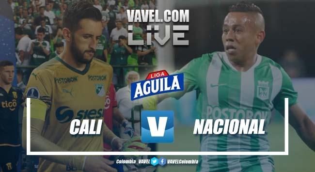 Resumen Deportivo Cali vs Atlético Nacional por cuadrangulares de la Liga Aguila 2019-I (0-1)