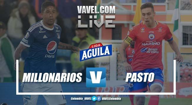 Resumen Millonarios vs Deportivo Pasto por la Liga Águila 2019-1 (1-0)