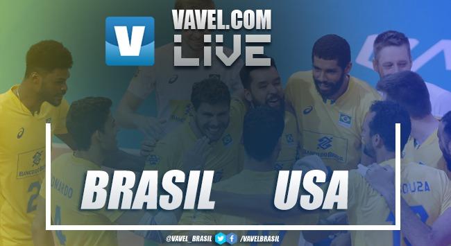 Resultado Brasil x Estados Unidos pela Liga das Nações (3-0)
