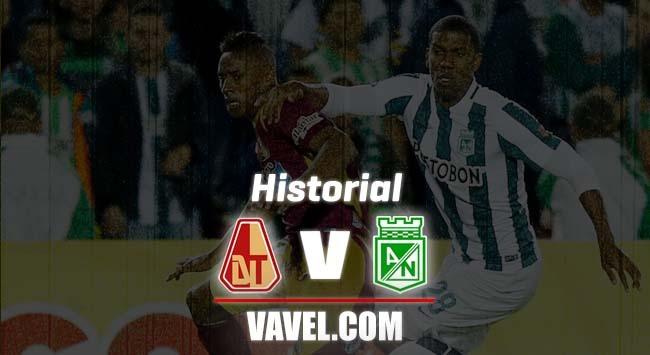 Historial de enfrentamientos entre Deportes Tolima y Atlético Nacional