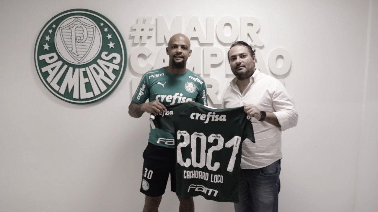 Palmeiras acerta renovação de Felipe Melo até 2021