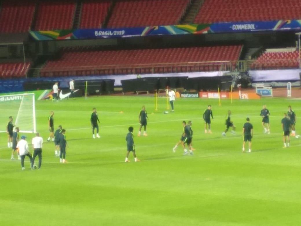 Sem Ederson, Brasil faz último treino antes da estreia da Copa América contra Bolívia