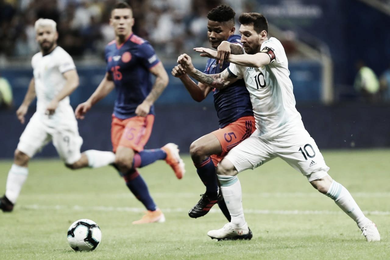 Não deu! Messi chama o jogo, mas vê sua seleção sucumbir diante da Colômbia