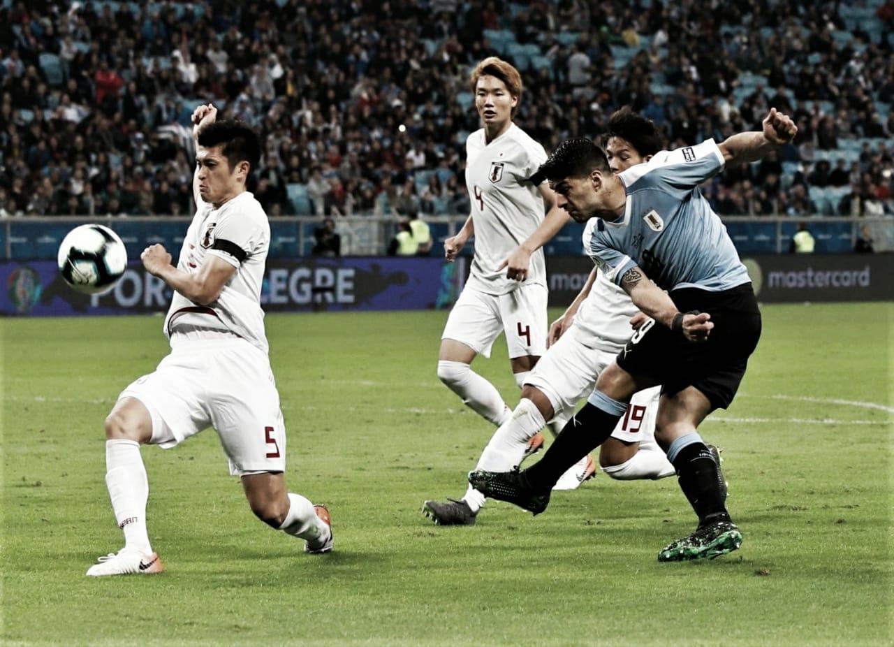 Melhor jogo até aqui? Uruguai e Japão empatam e abrem disputa no Grupo C