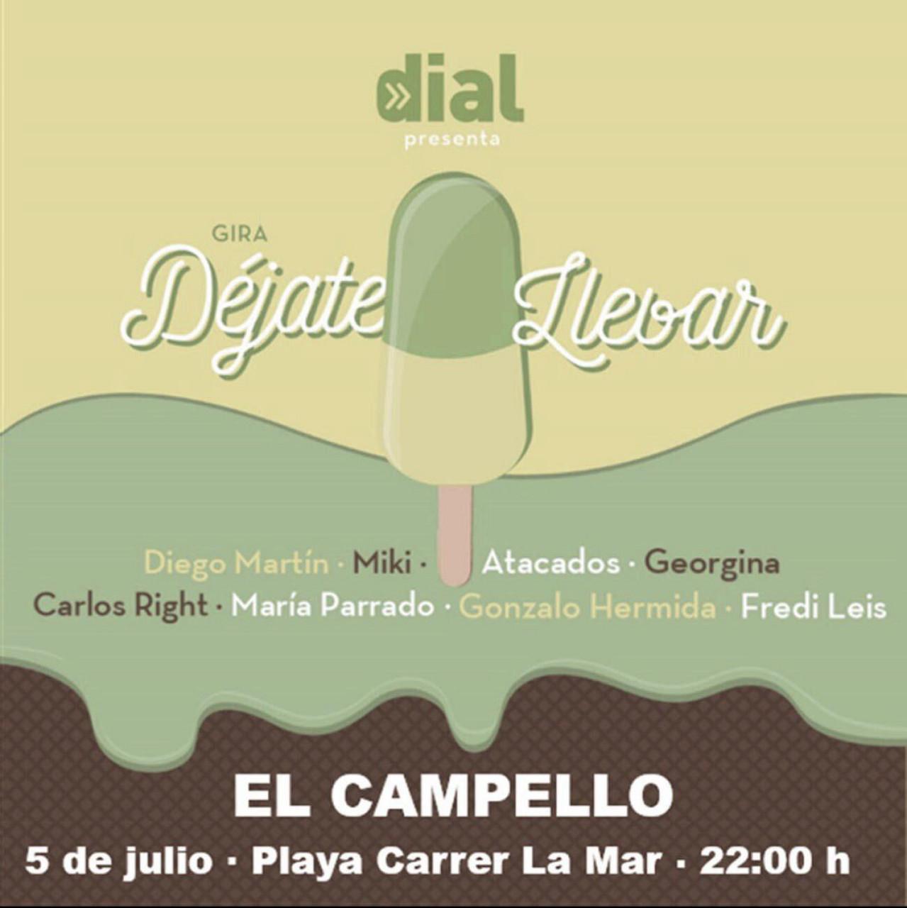 Las giras de Cadena Dial y Los 40 Principales llegan el 5 de julio a Campello y 11 a San Pedro del Pinatar