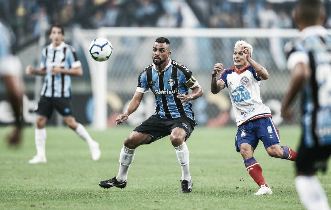Grêmio e Bahia empatam e levam decisão para jogo de volta da Copa do Brasil