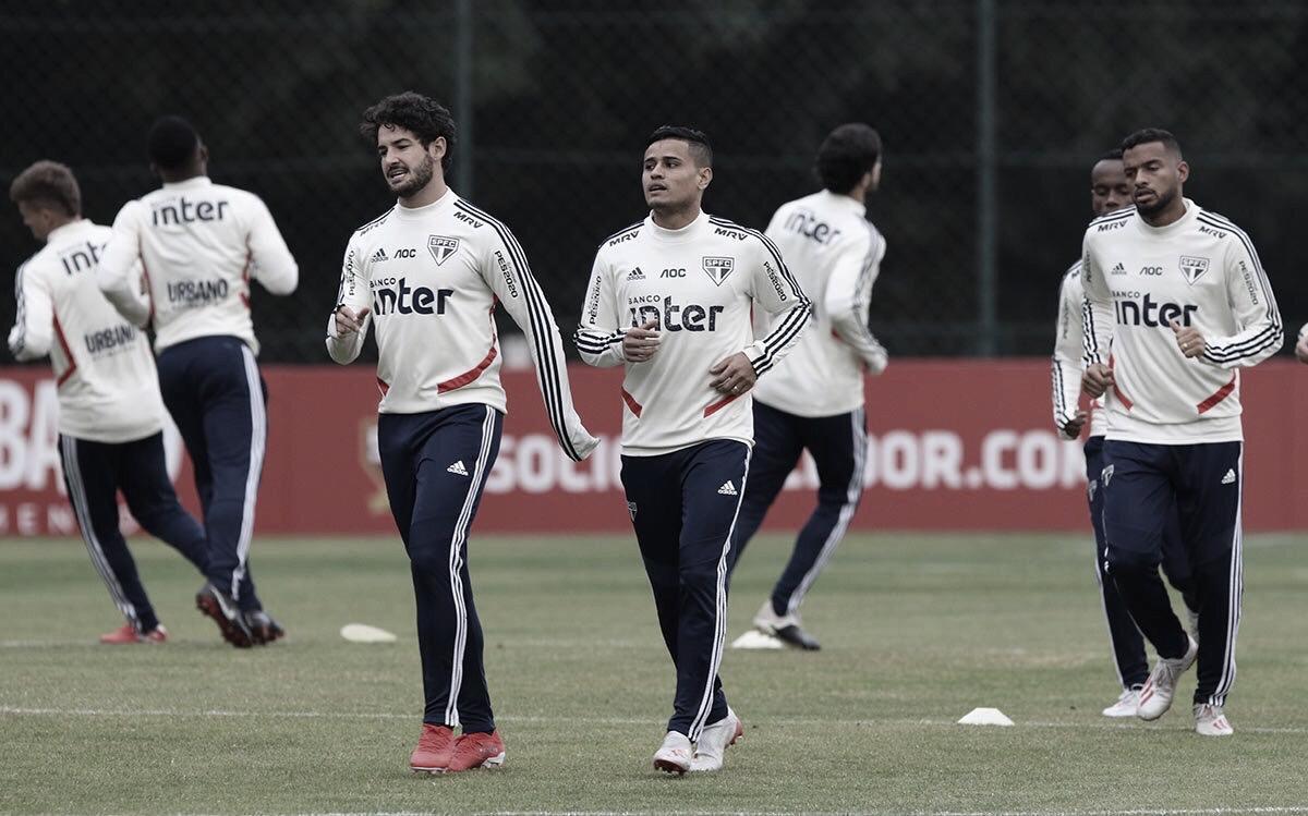 Tchê Tchê é desfalque e Everton treina com resto do elenco no São Paulo