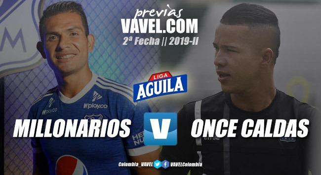 Previa Millonarios vs Once Caldas: un duelo donde estarán presentes jugadores con mucho talento
