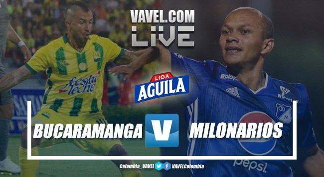 Resumen Atlético Bucaramanga vs Millonarios (1-2) por la Liga Aguila 2019-II
