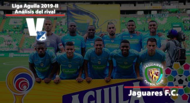 Millonarios Fútbol Club, análisis del rival: Jaguares de Córdoba