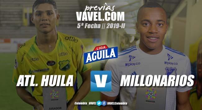 Previa Atlético Huila vs Millonarios: por el liderato en la liga