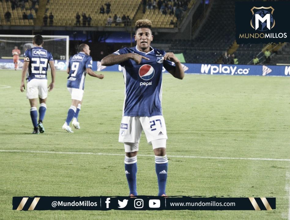José Guillermo Ortiz, el mejor de Millonarios ante Medellín