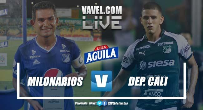 Resultado Millonarios 2-1 Deportivo Cali por la Liga Aguila 2019-II