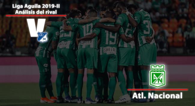 Millonarios, análisis del rival: Atlético Nacional