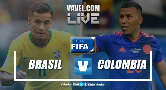 Resumen Brasil vs. Colombia (2-2)
