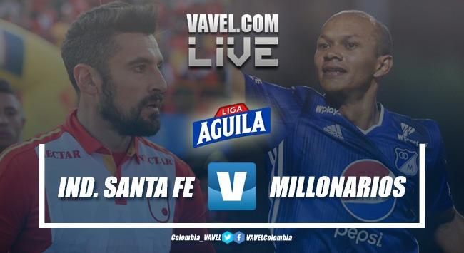 Resumen Santa Fe vs. Millonarios (1-0)