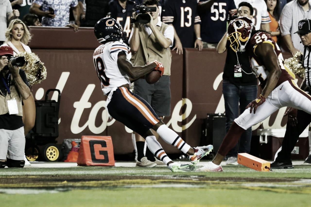 Washington Redskins joga mal, é derrotado pelo Chicago Bears e segue sem vitórias na NFL