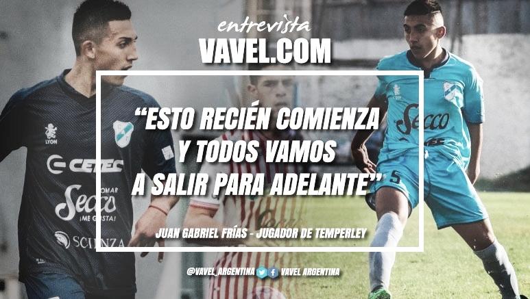 """Entrevista. Juan Gabriel Frías: """"Sería otro sueño firmar contrato con Temperley, porque es el clubcon el cual la vengo peleando desde la Séptima"""""""