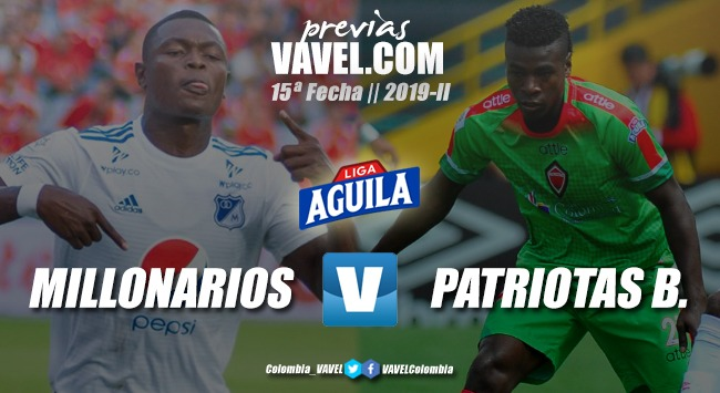 Previa Millonarios Vs. Patriotas Fútbol Club: los dos equipos intentarán volver a la victoria
