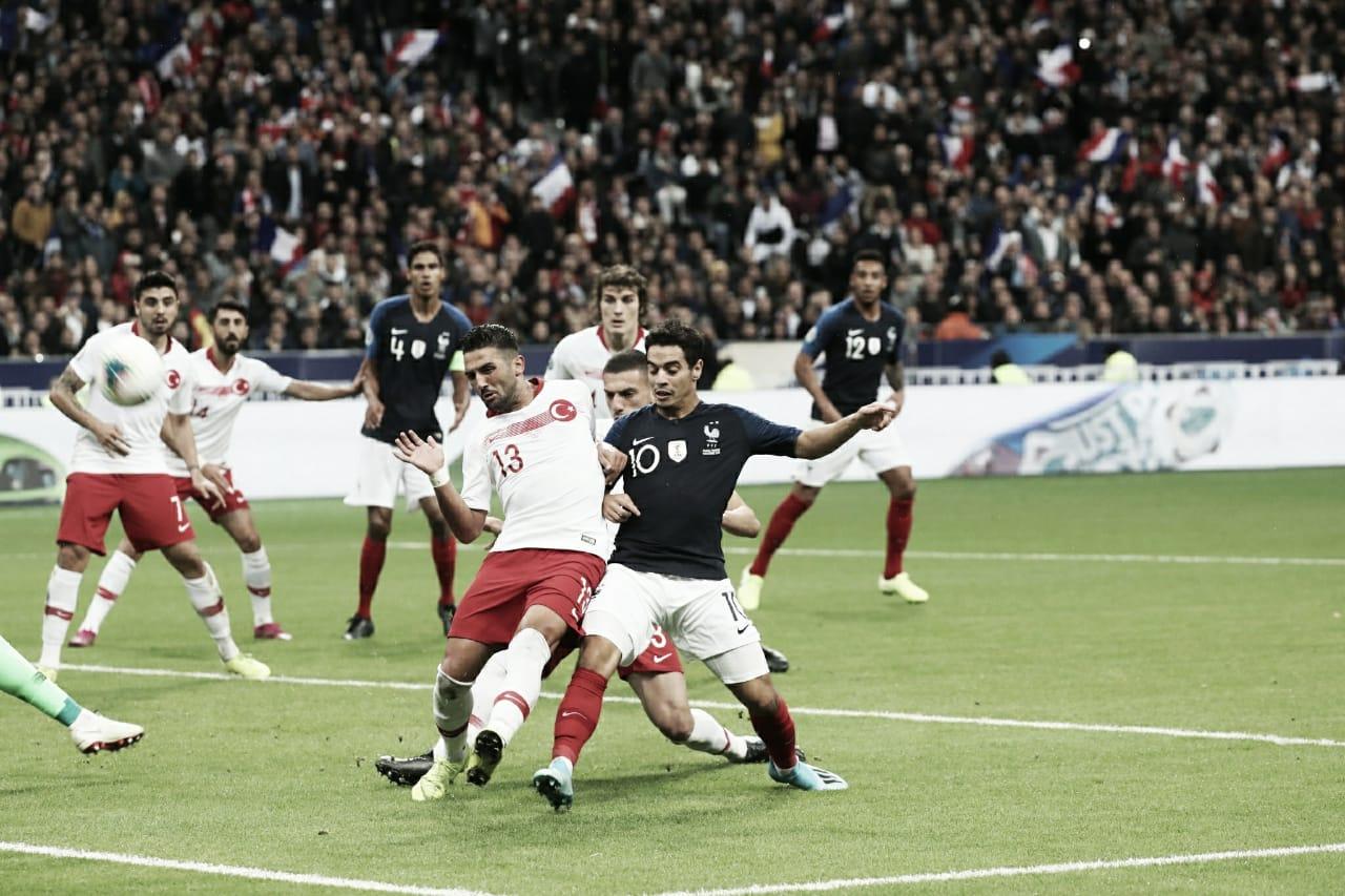 Em jogo duro, França e Turquia empatam pelas Eliminatórias da Euro