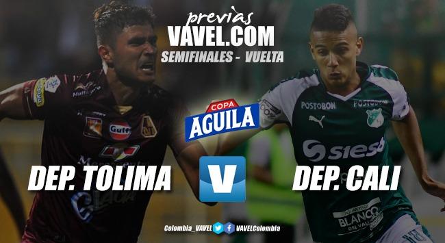 Previa Deportivo Cali vs. Deportes Tolima: mano a mano por un cupo a la final