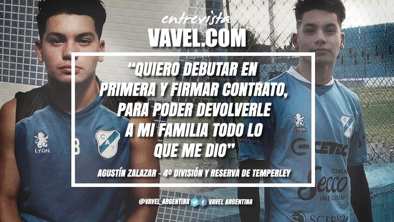 """Entrevista. Agustín Zalazar: """"Este año se me dio todo muy rápido, trato de ser positivo en todos los aspectos"""""""